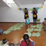 Familiares e alunos em convívio no Conde de Sobral