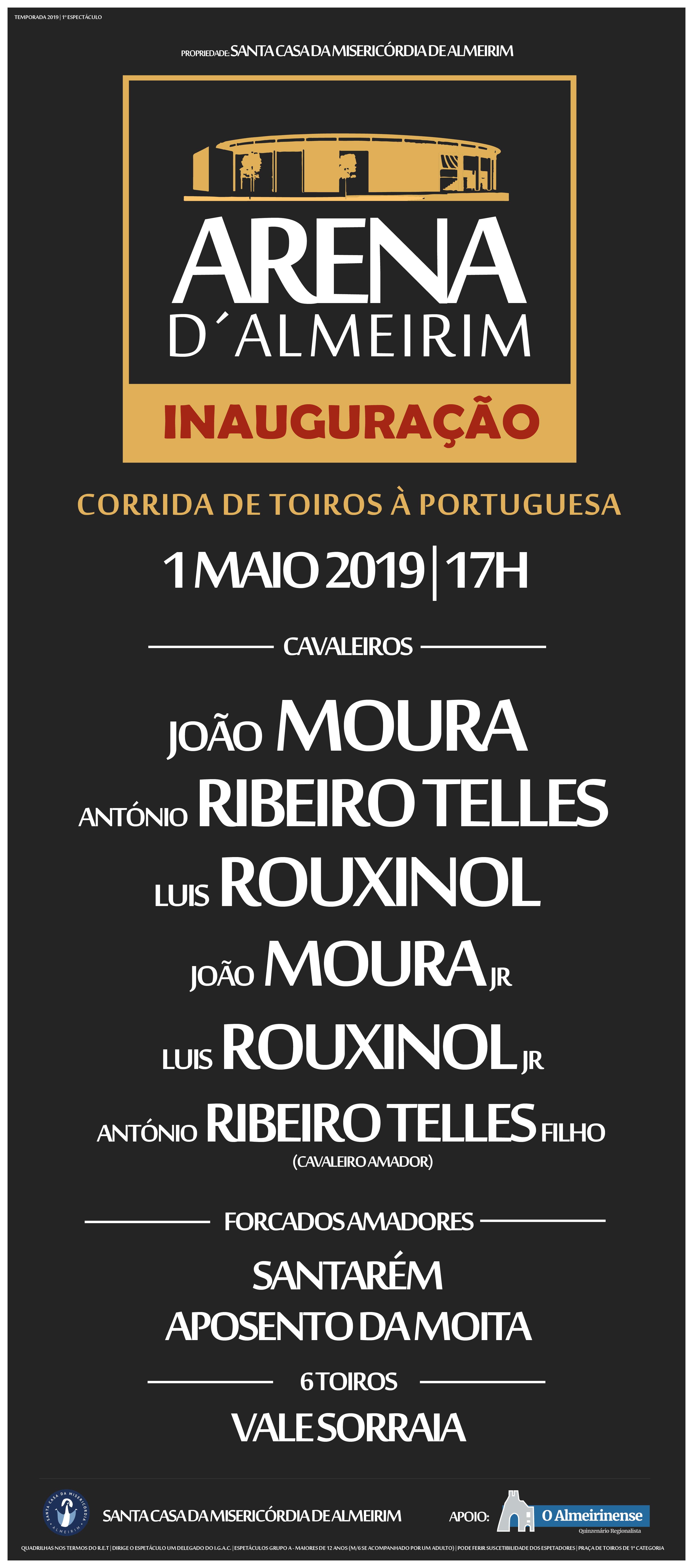 Cartel Corrida Inaugural de 1 de maio